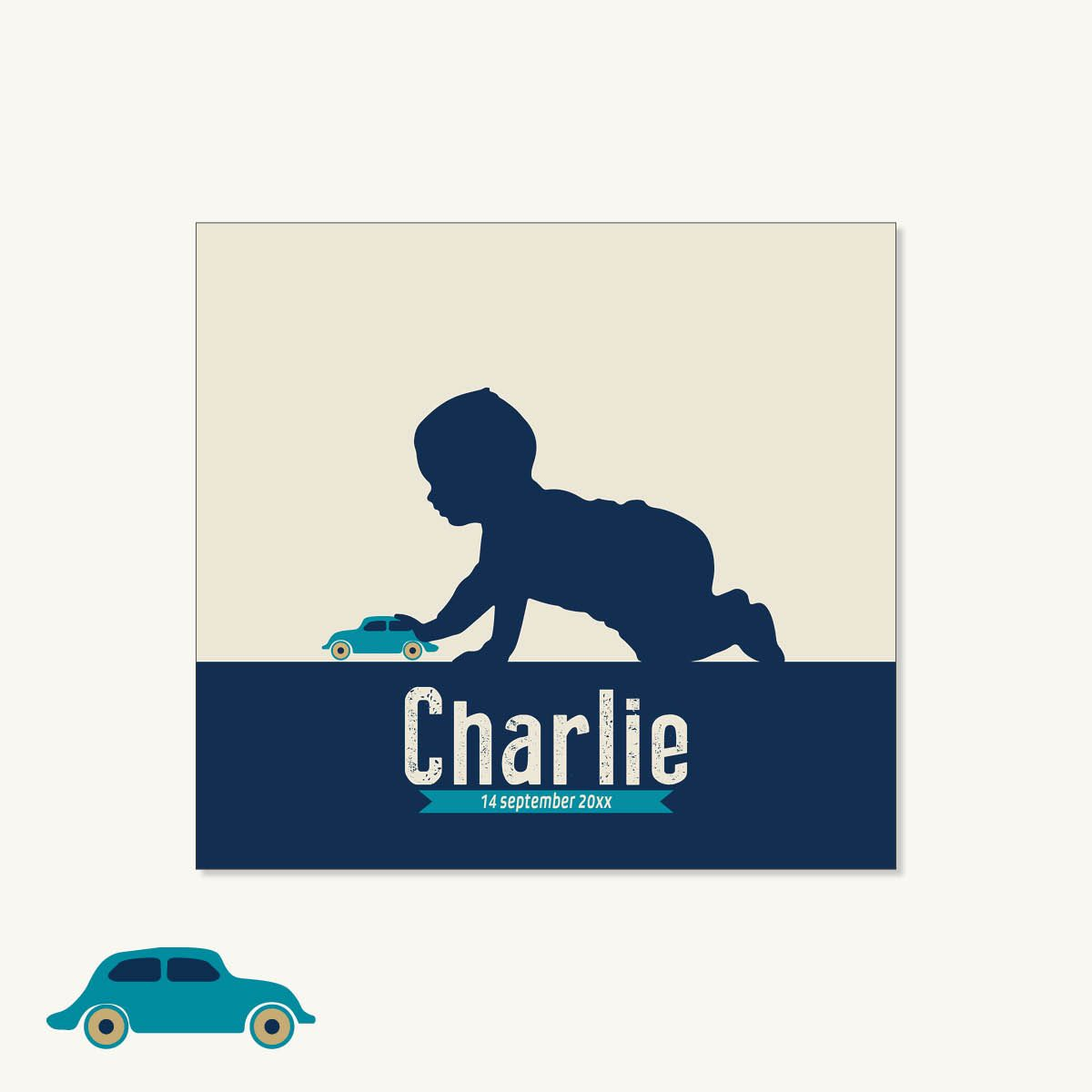 web charlie auto vierkant dubbel